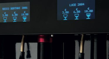 Enomatic Wine Dispenser Touch Screen