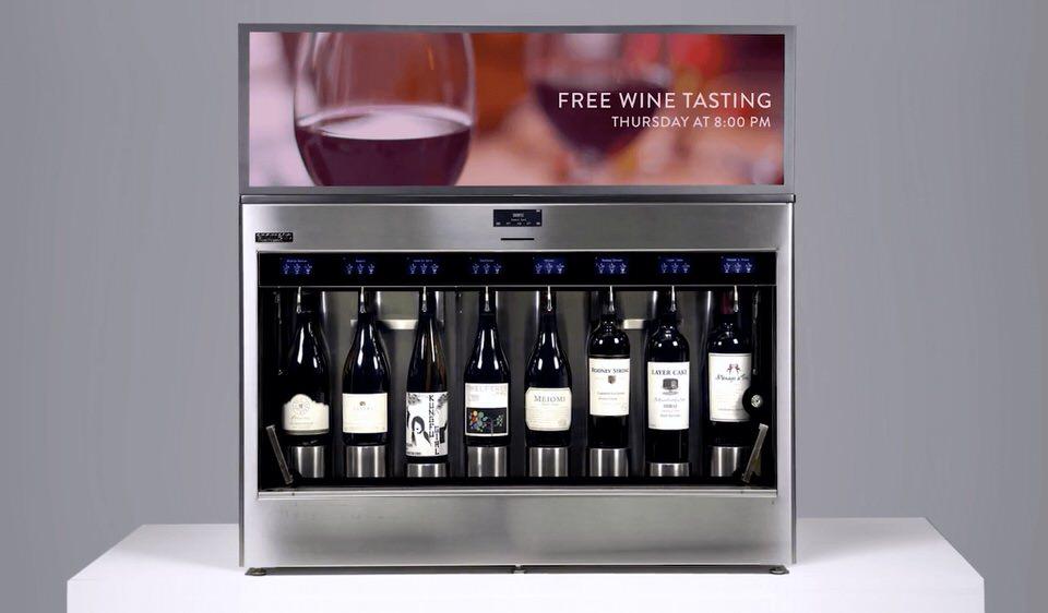 Enomatic wine dispenser digital display